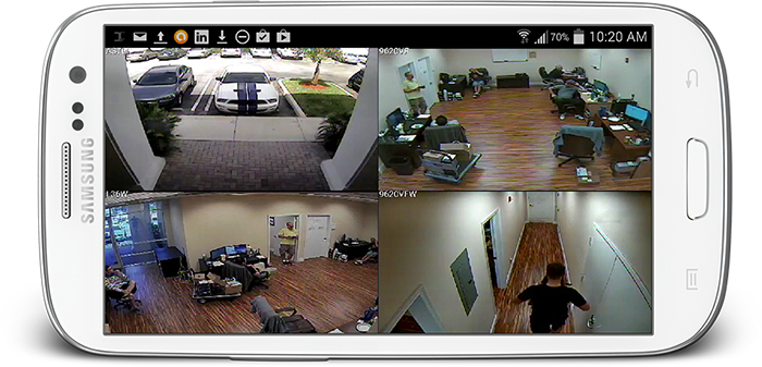 CCTV access in mobile